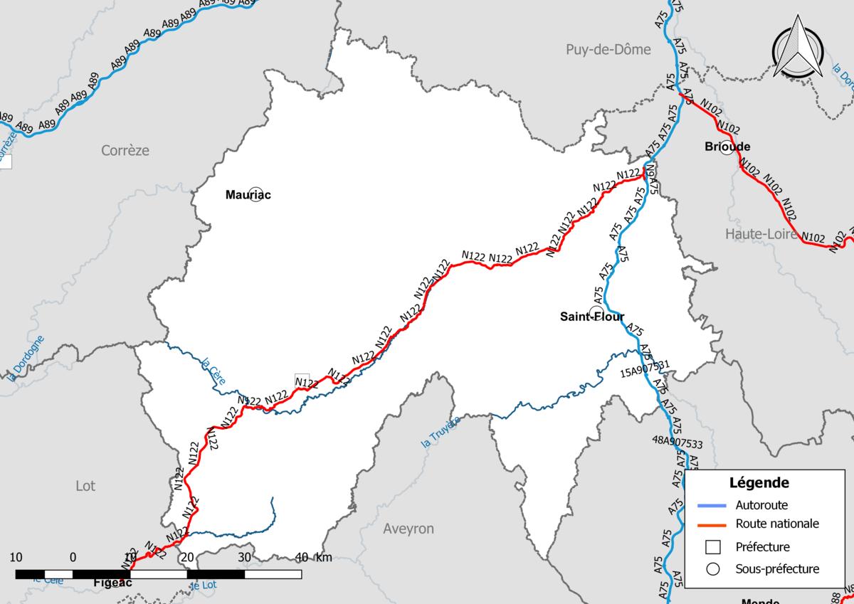 Réseau routier du Cantal — Wikipédia