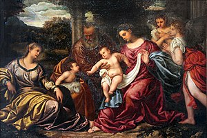 Polidoro da Lanciano - Polidoro from Lanciano: The Holy Family with St. Catherine of Alexandria and the Infant St. John