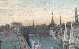 Pont Saint-Michel - Pont Saint-Michel in 1577.