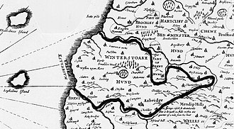 Badgworth - Image: 1645map Winterstoke 100