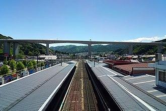 Okaya Station - Image: 170527 Okaya Station Okaya Nagano pref Japan 05s 3