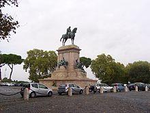 Monumento equestre dedicato a Giuseppe Garibaldi al Gianicolo