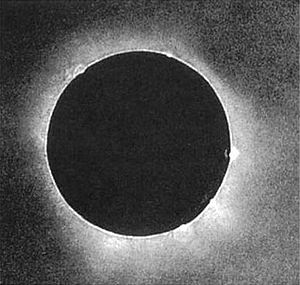Astrophotography - The first solar eclipse photograph taken on July 28, 1851 by a daguerrotypist named Berkowski.