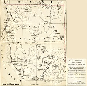 Albeeville, California - An 1866 map of the area shows Camp/Fort Anderson on Redwood Creek - east of Trinidad