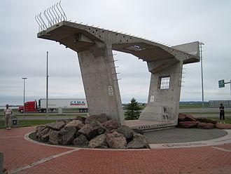 Confederation Bridge - Bridge segment on display.