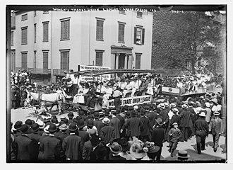 Women's Trade Union League - WTUL float, Labor Day parade, New York, 1908