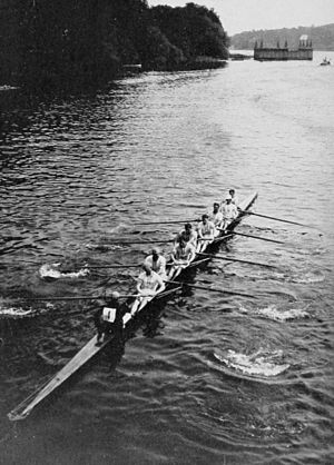 Rowing at the 1912 Summer Olympics - The British eights of the Leander Club.