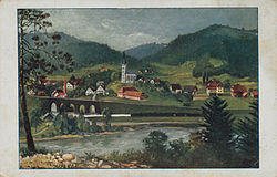 1920s postcard of Vuhred
