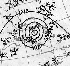 1926 Atlantic hurricane season - Image: 1924 Nassau Hurricane analysis 26 Jul 1926
