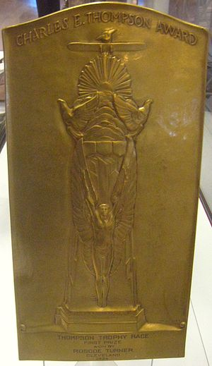 Roscoe Turner - 1934 Thompson Trophy Plaque
