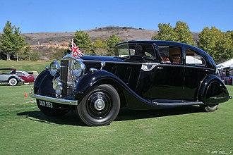 Alan Samuel Butler - Butler's personal Phantom III Rolls-Royce. It was believed its special windscreen might prove aerodynamic