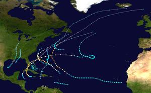 1948 Atlantic Hurricane Season Zusammenfassung map.png