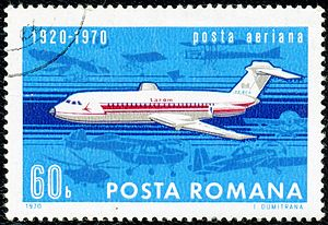 Aviation in Romania - 1970 stamp