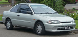 1995–1996 Mitsubishi Lancer (CC) GLXi coupe (Australia)