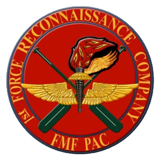 1st Force Reconnaissance Company - 1st FORECON seal during the 1960s. The Navy/Marine Parachutist Insignia replaces the Army Basic Airborne Insignia.