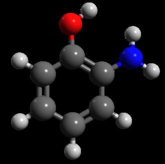 2-Aminophenol - Image: 2 aminophenol ball and stick