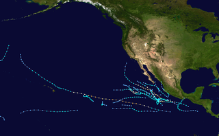 2000 Pacific hurricane season Period of formation of tropical cyclones in the Eastern Pacific Ocean in 2000
