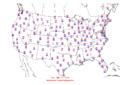 2006-03-12 Max-min Temperature Map NOAA.png