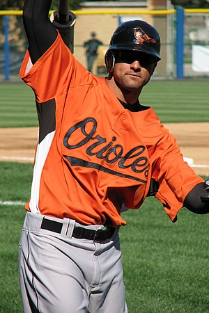 Nick Markakis - Markakis during his tenure with the Baltimore Orioles in 2007 spring training