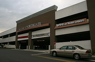 Northgate Mall (Durham) - Northgate Mall's new parking deck.