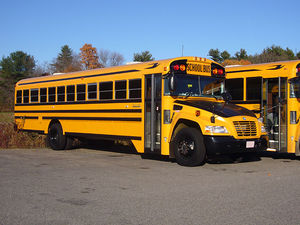 "A 2009 Blue Bird ""Vision"" school bus..."