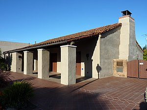Mountain View, California - The Historic Adobe Building was constructed as a Works Progress Administration project in 1934.