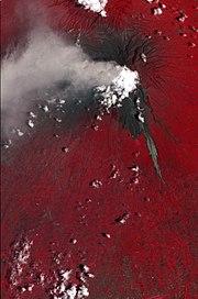 2010 Eruption at Mount Merapi, Indonesia (ASTER)