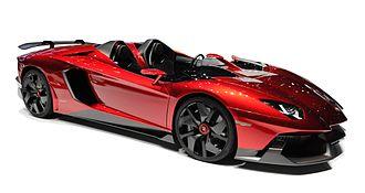 Geneva Motor Show - A Lamborghini Aventador J