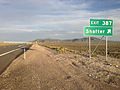 2014-06-10 19 24 10 Sign for Exit 387 along eastbound Interstate 80 and southbound Alternate U.S. Route 93 near Shafter, Nevada.JPG