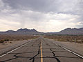 2014-07-17 15 59 17 View south along Nevada State Route 375 about 43.5 miles south of the Nye County Line in Lincoln County, Nevada.JPG
