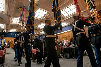 United States Army Military District of Washington - The U.S. Military District of Washington Joint Armed Forces Color Guard presents the Colors at the USDA Headquarters' Jefferson Auditorium, in Washington, D.C. on Tuesday, Nov. 4, 2014