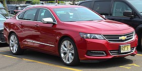 2014 Chevrolet Impala LTZ 3.6L with courtesy plates, front 6.1.19.jpg