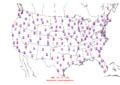 2015-10-29 Max-min Temperature Map NOAA.png