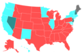 2016 United States House of Representatives Election by Change in the Majority Political Affiliation of Each State's Delegations From the Previous Election.png