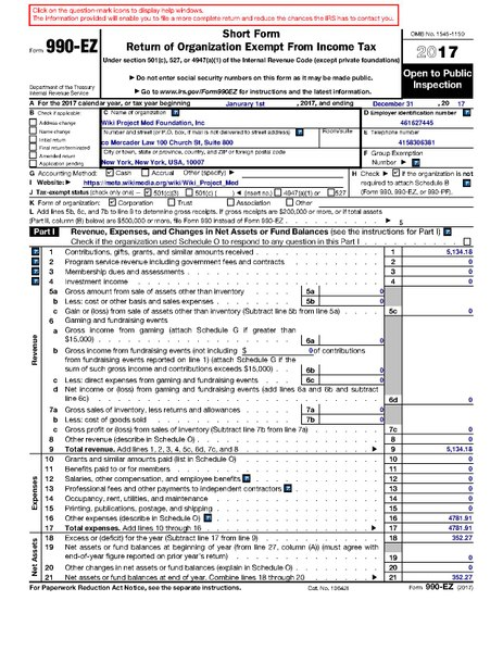 File2017 Form 990 Ezpdf Wikimedia Commons