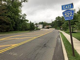 Englishtown, New Jersey - CR 522 entering Englishtown
