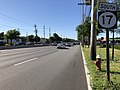 2018-07-19 08 57 41 View south along New Jersey State Route 17 just south of Bergen County Route 80 (Ridgewood Avenue) in Paramus, Bergen County, New Jersey.jpg
