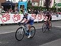 2018 Women's Tour stage 3 - Leamington finish 046 Rozanne Slik 002 Hannah Barnes.JPG