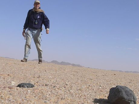2008 TC3 meteorite fragments found on February 28, 2009 in the Nubian Desert, Sudan. - Meteoroid