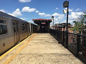 36th Avenue (BMT Astoria Line) - Image: 36th Avenue Astoria Bound platform