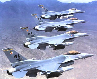414th Combat Training Squadron - 414th Composite Training Squadron - Four aircraft formation