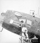 462 Squadron RAAF Halifax maintenance in the Western Desert AWM MEA0013.jpg