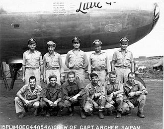 "869th Bombardment Squadron - Crew of the 869th Bomb Squadron B-29 42-24592 ""Little Gem"""