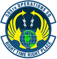 505 Operations Sq (later 505 Test Sq) emblem.png