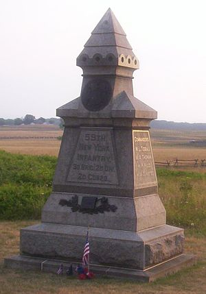 59th New York Volunteer Infantry Regiment - 59th New York Monument at Gettysburg National Military Park