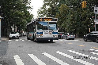 M5 and M55 buses Bus routes in Manhattan, New York