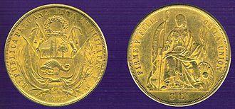 Peruvian real - Image: 8 Escudos