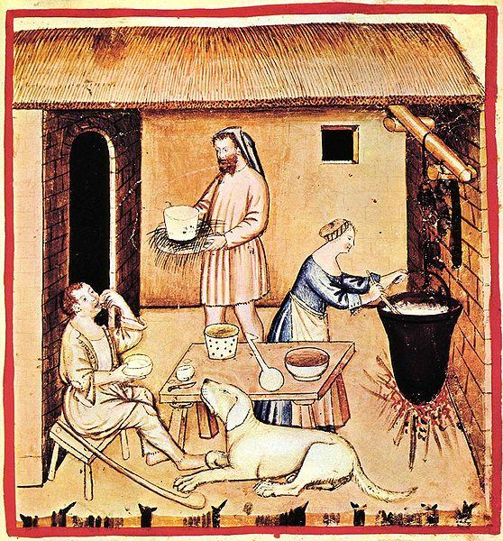 File:9-alimenti, formaggi,Taccuino Sanitatis, Casanatense 4182..jpg