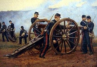De Bange 90 mm cannon - Image: 90mm De Bange in 1898