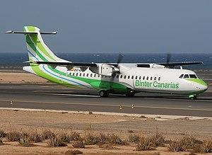 Binter Canarias - NAYSA owned ATR 72-202 flown as Binter Canarias
